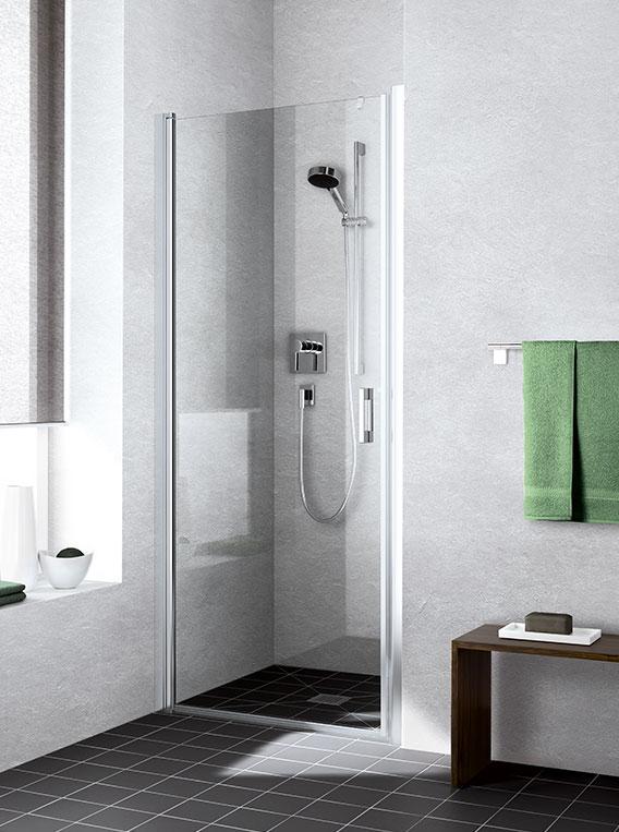 kermi duschkabine liga pendeltr in nische - Dusche Pendeltur Nische