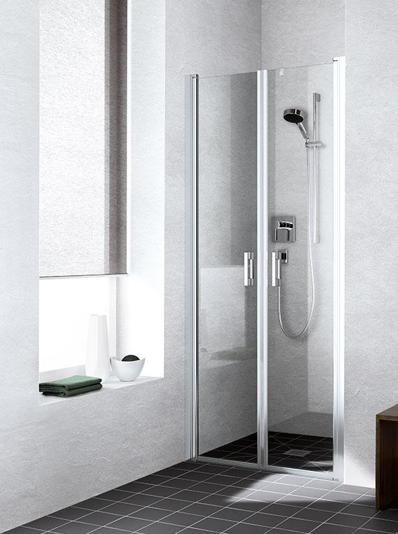 kermi duschkabine liga pendeltren in nische - Dusche Pendeltur Schwingtur